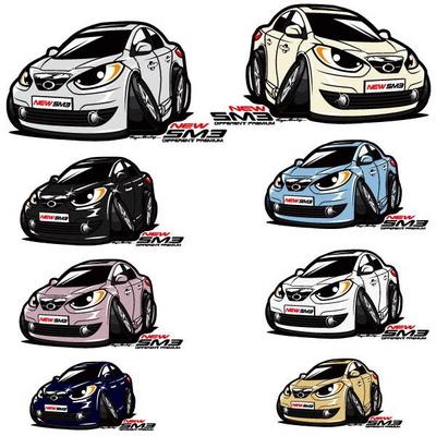프리스타일 뉴 SM3 차량용 캐릭터 스티커