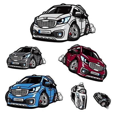 프리스타일 올뉴카니발 차량용 캐릭터 스티커