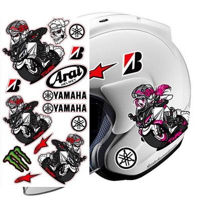 T-MAX 캐릭터 스티커 세트/오토바이크 헬멧 튜닝 데칼