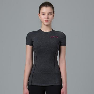 스포츠브라 내장의 쫀쫀한 티셔츠  KOT16 바름로즈탑 요가복