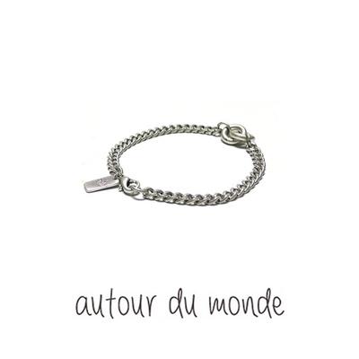 double ring chain men bracelet