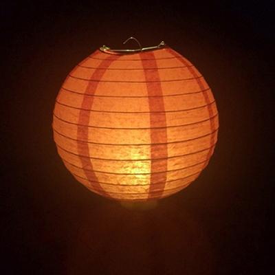 한지등 20cm 주황색