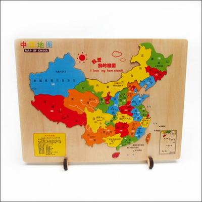 중국 우드 조각 지도