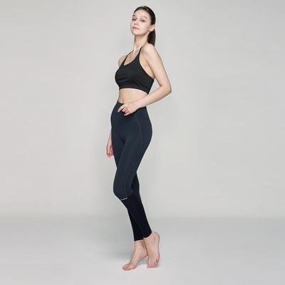 여성 요가복 DEVI-B0025-에쉬네이비_블랙 필라테스 레깅스 9부 팬츠