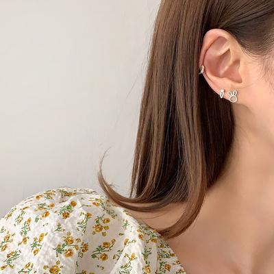 [925실버] 토끼 당근 레이어드 세트 은 귀걸이 (2 type)
