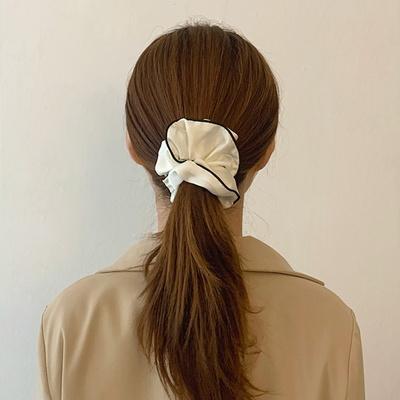 단색 새틴 실크 라인 스크런치 곱창머리끈 8color