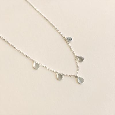 silver925 심플 파이브 원형 은목걸이