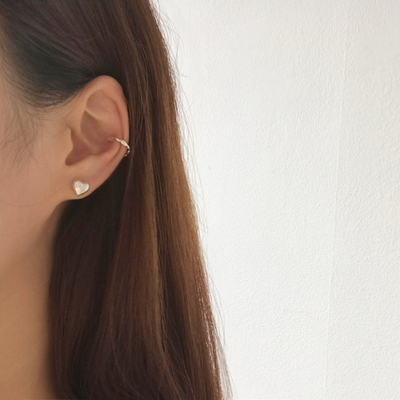 925실버 미니 통통하트 귀걸이