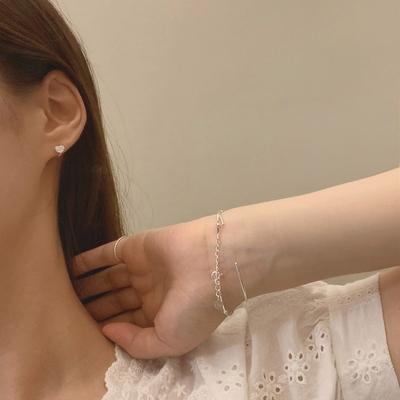 925실버 하트원터치 귓바퀴 미니 링 귀걸이