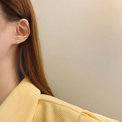 925실버 데일리 도트 미니하트 귀걸이