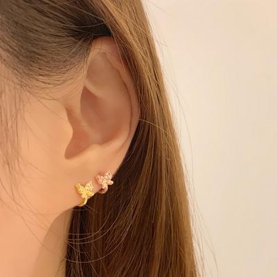 14k골드필드 로즈골드 원터치 귓바퀴 세컨드 미니 링 귀걸이 9종(한쌍)