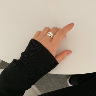 925실버 18k골드도금 5mm 기본 은가락지 볼드링 반지
