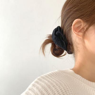 소프트 여리여리 펀칭 스크런치 곱창머리끈