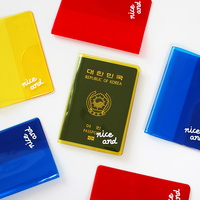 클리어 컬러 여권 커버