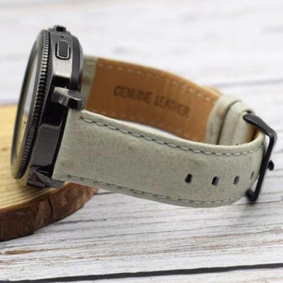 갤럭시워치 기어s2 s3 프론티어 스포츠 액티브 패션 타조 가죽 버클 스트랩 시계줄 밴드 42 46mm