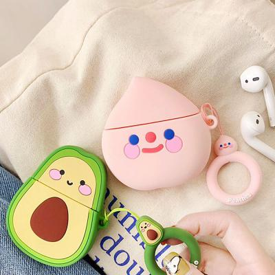 에어팟 케이스 귀여운 3D 입체 과일 캐릭터 실리콘 키링 고리 세트 이어폰 악세사리 1 2 세대 공용
