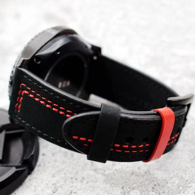 갤럭시워치 기어 S3 패셔너블 클래식 가죽 프론티어 스트랩 시계줄 밴드 삼성 스마트워치 악세사리 46mm