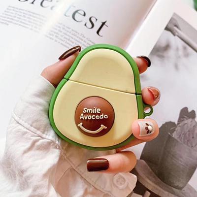 에어팟 실리콘 케이스 귀여운 아보카도 캐릭터 커버 무선 이어폰 악세사리 1 2 세대 공용 커플 아이템 추천