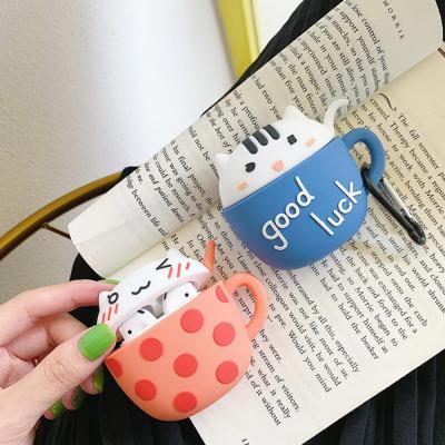 에어팟 케이스 귀여운 고양이 커플 캐릭터 실리콘 커버 키링 카라비너 세트 무선 이어폰 악세서리 1 2 세대