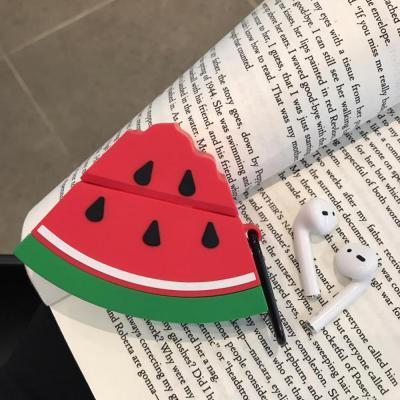 에어팟 케이스 귀여운 여름과일 수박 캐릭터 실리콘 커버 키링 카라비너 세트 이어폰 악세서리 1 2 세대