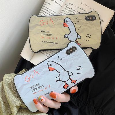 아이폰 XR/XS/MAX 맥스/X/8 7 플러스/특이한 동물 캐릭터 귀여운 식빵 실리콘 젤리 범퍼 케이스 커플 추천