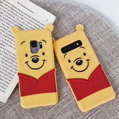 삼성 갤럭시 S10E S10/플러스 노트9/8 귀여운 3D 입체 곰돌이 캐릭터 실리콘 젤리 핸드폰 케이스/커플 추천