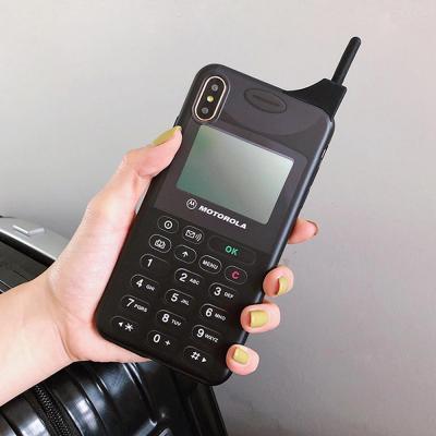 아이폰 XR/XS/MAX맥스/X/8 7플러스/특이한 3D입체 레트로 모토로라 디자인 실리콘 핸드폰 케이스/커플 추천