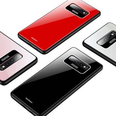 갤럭시 S10/5G/S10E/S10플러스/노트9 컬러풀 심플 디자인 슬림핏 유광 글라스 하드 범퍼 핸드폰 케이스