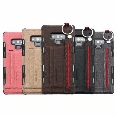갤럭시 S10/5G/S10E/플러스/S9/노트9/노트8 패브릭 카드수납 지갑 스마트링 스트랩 거치대 핸드폰 케이스