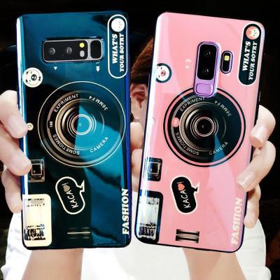 갤럭시 노트10/플러스 S10 5G S10E 커플 카메라 스마트톡 거치대 특이한 소프트 실리콘 젤리 핸드폰 케이스