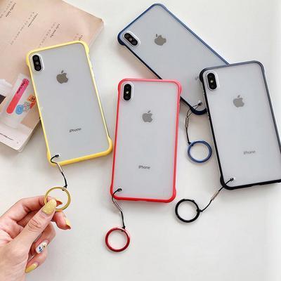 아이폰 XR XS MAX 맥스 X 8 7 플러스 컬러 라인 반투명 슬림핏 소프트 하드 스마트링 핸드폰 케이스