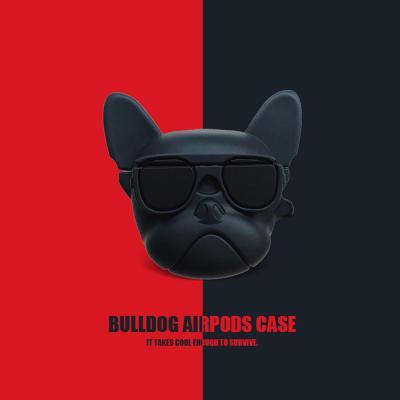 에어팟 1/2 차이팟 유니크 3D입체 불독 강아지 캐릭터 유선 무선 충전 실리콘 커버 케이스 커플 악세사리
