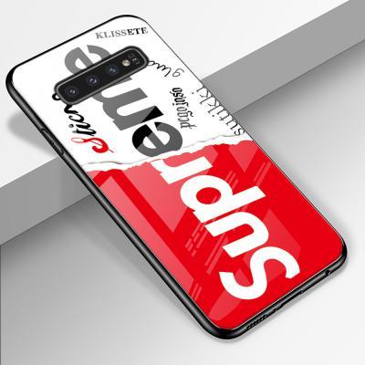 갤럭시 노트10 N971 노트10플러스 N976 슈프림 SUP 디자인 강화유리 글라스 슬림핏 실리콘 핸드폰 케이스