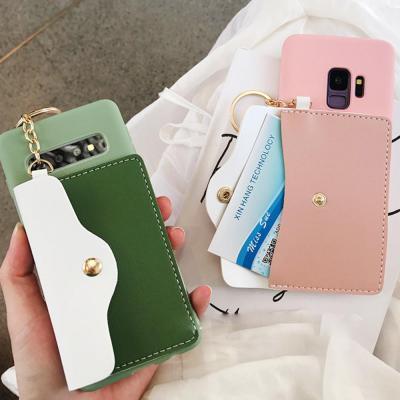 갤럭시 S10 5G S10E S9 플러스 예쁜 파스텔 카드포켓 지갑 태슬 키링 스트랩 목걸이줄 젤리 핸드폰 케이스