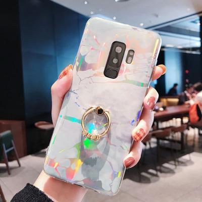 아이폰 XR XS MAX 맥스 X 8 7 플러스 예쁜 큐빅 스마트링 마블 대리석 소프트 젤리 슬림핏 핸드폰 케이스