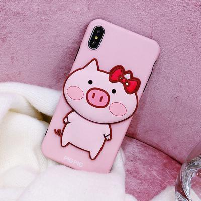 갤럭시 노트10 S10 S9 S8 플러스 귀여운 입체 핑크 돼지 동물 캐릭터 슬림핏 실리콘 소프트 핸드폰 케이스