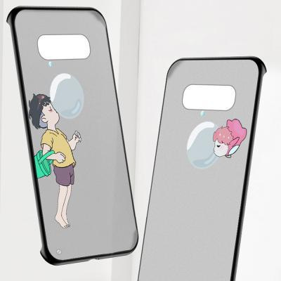 갤럭시 노트10 플러스 S10 5G S9 노트9 귀여운 커플 캐릭터 반투명 슬림 하드 스트랩 핑거링 핸드폰 케이스