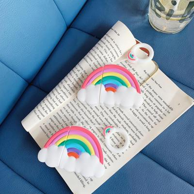 에어팟 1/2 차이팟 귀여운 무지개 레인보우 유/무선 충전 실리콘 케이스 키링 고리 세트 커플 악세사리
