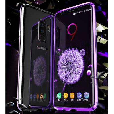갤럭시 노트10 노트9 S10 5G S10E S9 S8 플러스 강화유리 메탈 마그네틱 투명 하드 범퍼 핸드폰 케이스