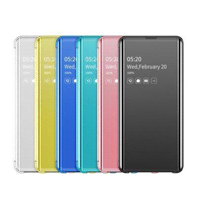 갤럭시 S10 5G S10E 노트10 노트9 플러스 글로우 컬러 클리어뷰 플립 커버 실리콘 범퍼 핸드폰 케이스
