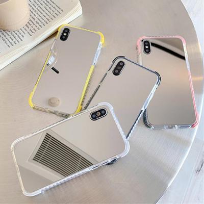 아이폰 XR XS MAX 맥스 X 8 7 플러스 메이크업 미러 거울 실리콘 젤리 범퍼 슬림 핸드폰 케이스
