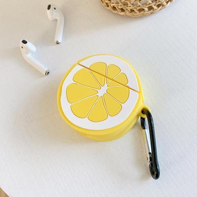 에어팟 차이팟 귀여운 레몬 실리콘 유/무선 충전 케이스 카라비너 키링 고리 커플 악세사리 추천 1/2 세대