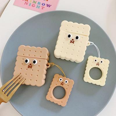에어팟 차이팟 귀여운 커플 쿠키 비스켓 캐릭터 유/무선 충전 실리콘 케이스 키링 고리 세트 1/2 세대