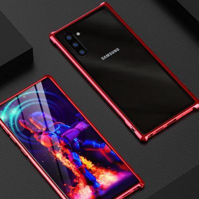 갤럭시 노트10 노트10플러스 노트9 N971 N976 N960 강화유리 투명 슬림 하드 메탈 범퍼 핸드폰 케이스