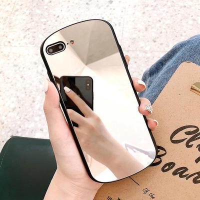 아이폰 XR XS MAX 맥스 X 8 7/플러스 심플 블랙 미러 거울 슬림 실리콘 범퍼 핸드폰 케이스/커플 추천