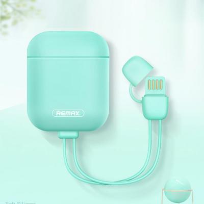 에어팟 USB 8핀 충전 케이블 스트랩 일체형 실리콘 스키니 스킨 풀커버 케이스 이어폰 악세사리 1/2 세대