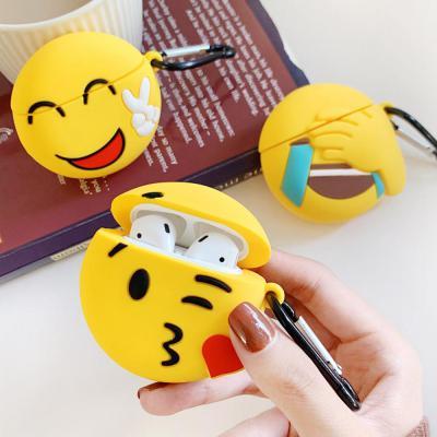 에어팟 1/2 차이팟 귀여운 동글이 이모티콘 캐릭터 유선/무선 충전 실리콘 키링고리 세트 케이스 커플 추천