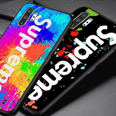 갤럭시 노트10 노트10플러스 N971 N976 슈프림 로고 디자인 스키니 슬림 실리콘 젤리 핸드폰 케이스