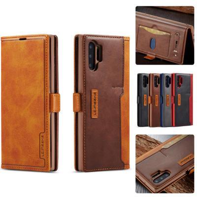 갤럭시 노트10 플러스 노트9 S10 S10E LC.IMEEKE 투톤 가죽 자석 커버 카드수납 거치대 플립 핸드폰 케이스