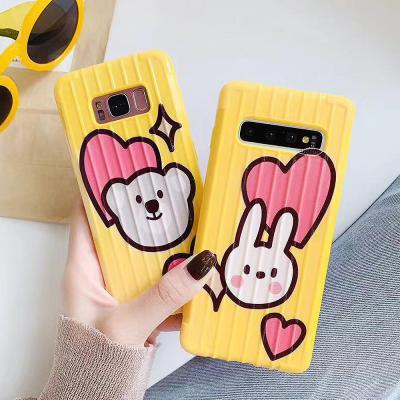 갤럭시 노트9 S10 S9 S8/플러스 귀여운 곰돌이 토끼 고양이 동물 캐릭터 슬림 소프트 실리콘 핸드폰 케이스